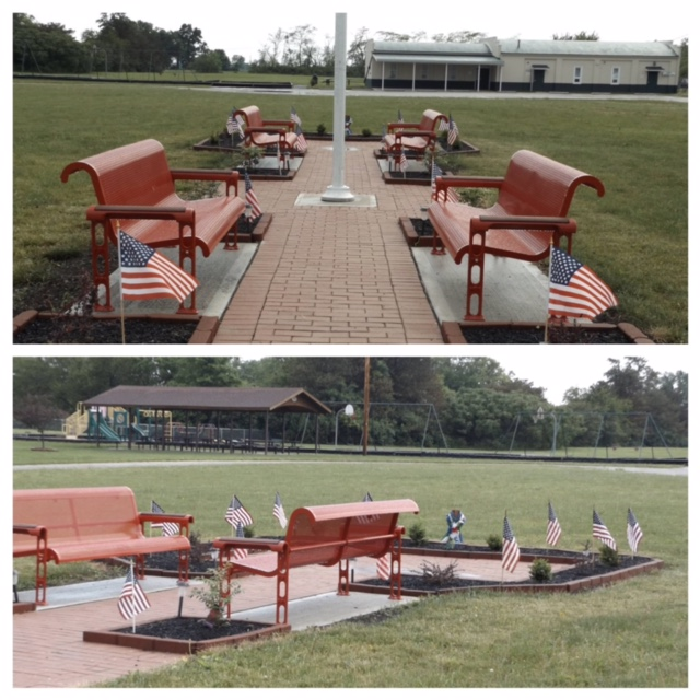 2015 Grant to Darby Township for Benches at Veterans Park