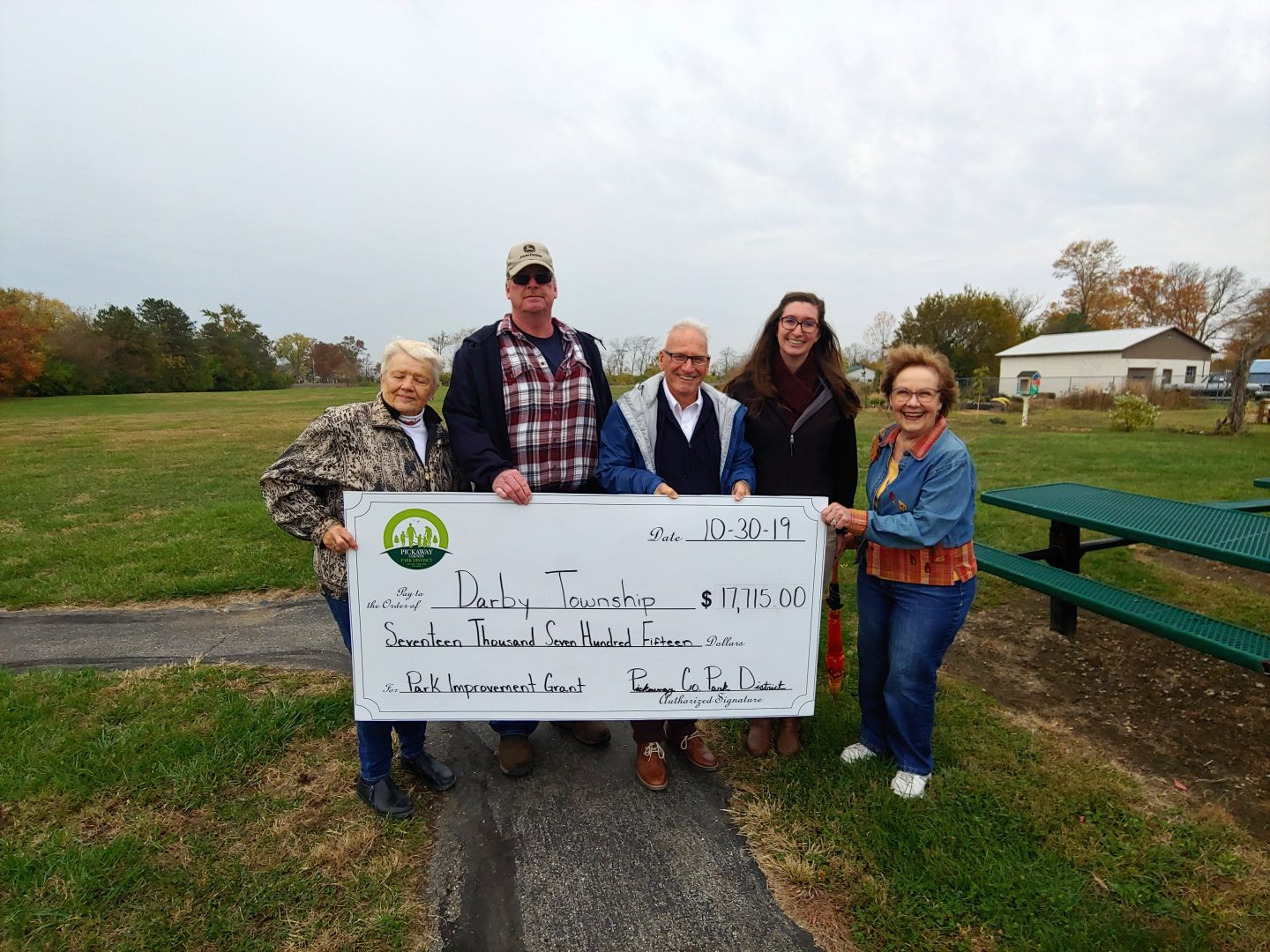2019 Grant to Darby Township for Darby Township Park for a walking path and pollinator area