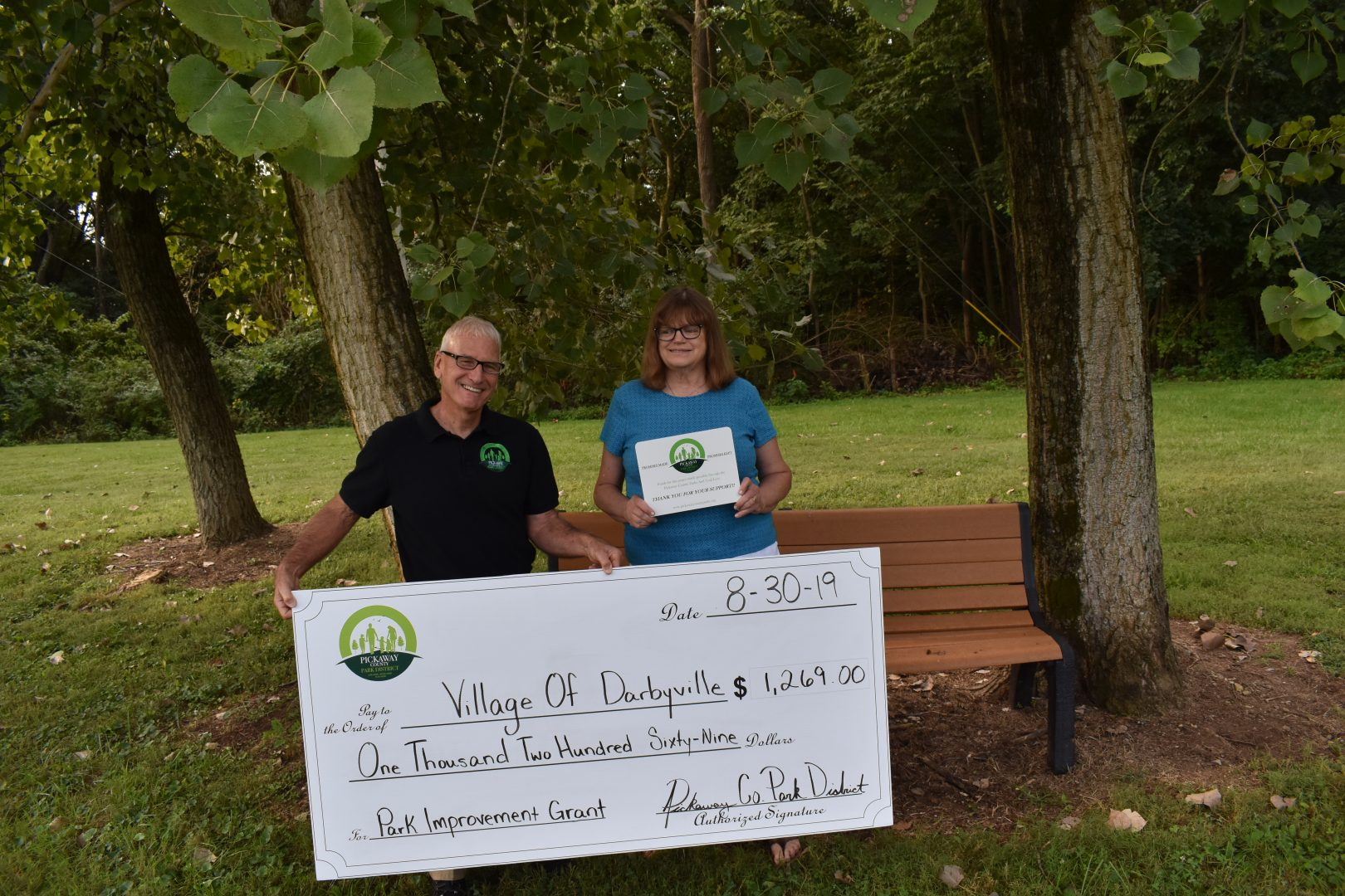 2019 Grant to the Village of Darbyville at Darbyville Park for new benches