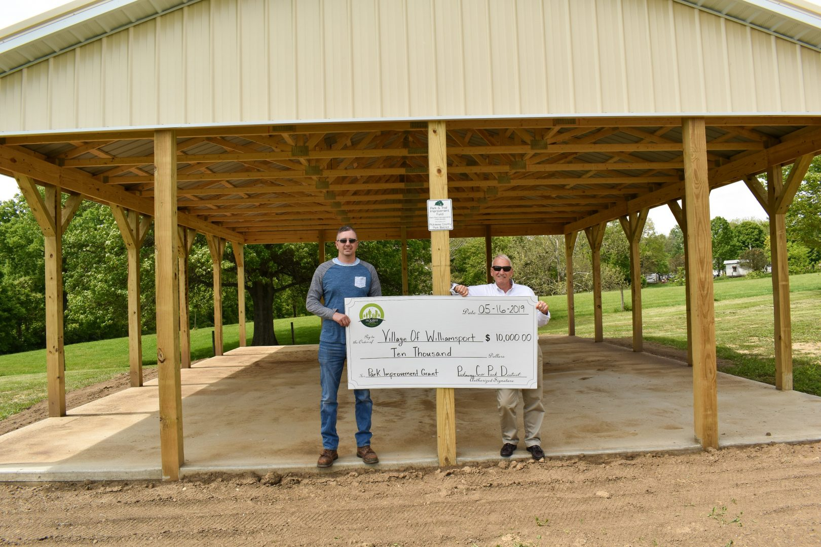 2019 Grant to the Village of Williamsport for a shelter house at Ballard Park