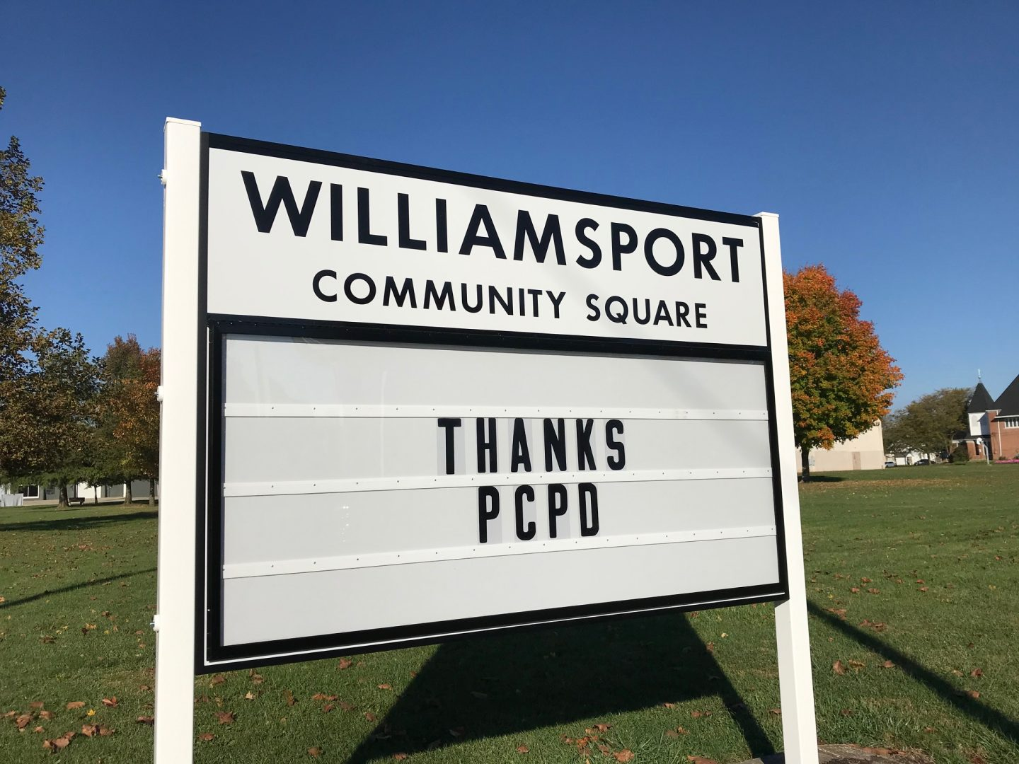 2020 Grant Project for Village of Williamsport for new park sign